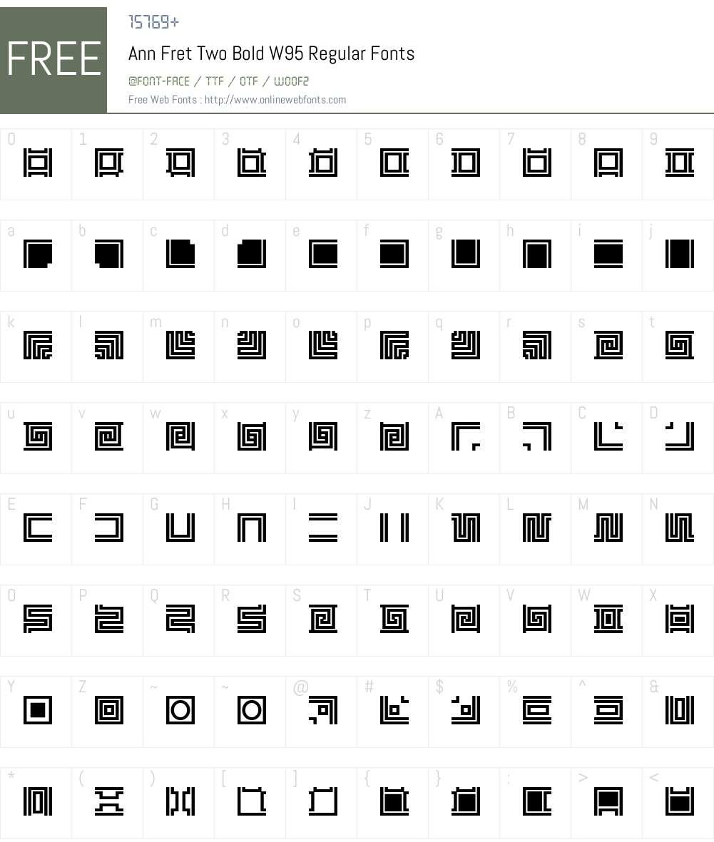 Ann Fret Two Bold Font Screenshots