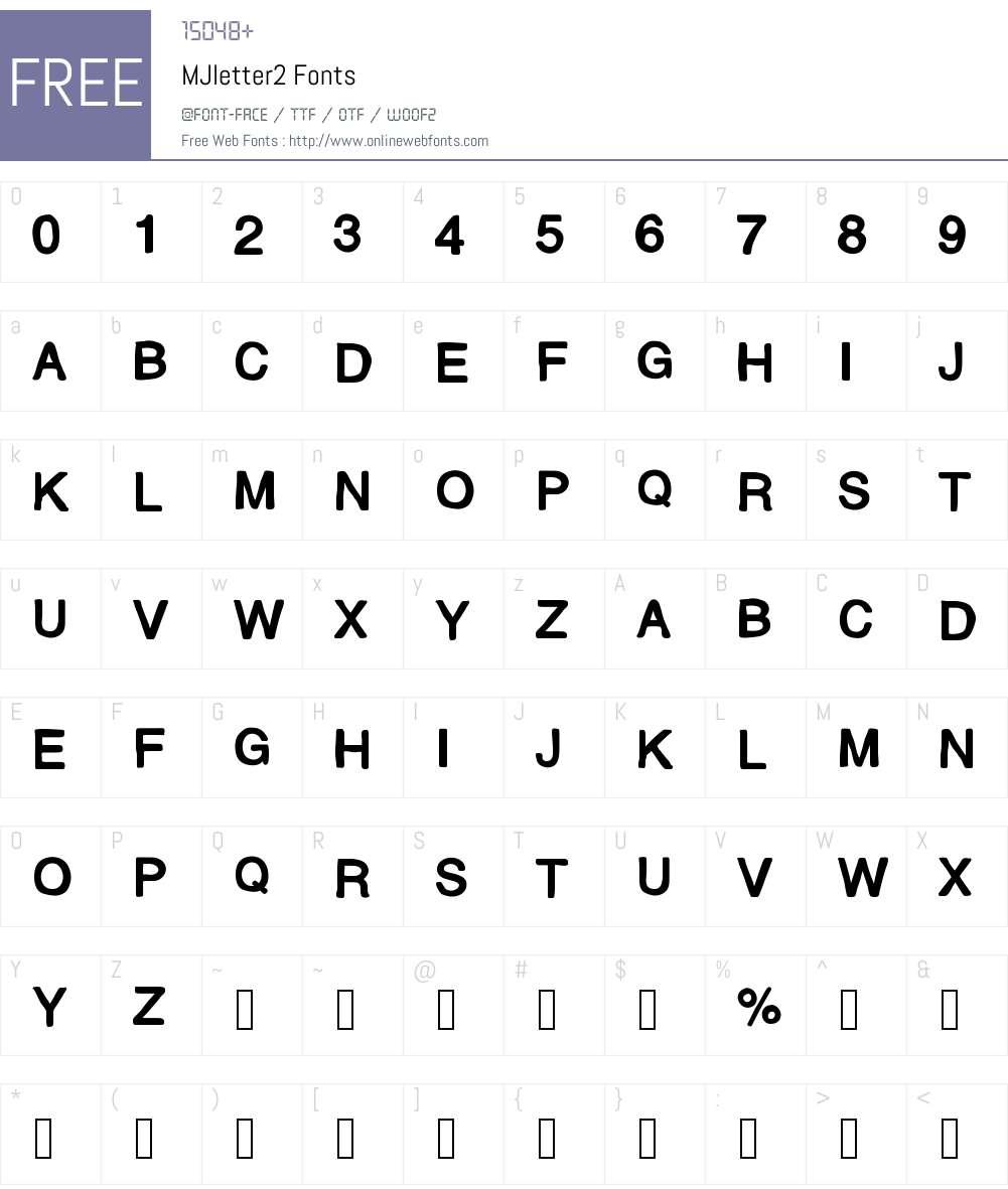 MJletter2 Font Screenshots