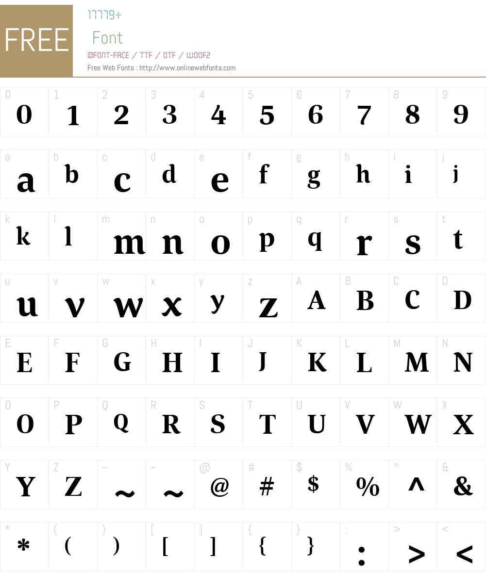 CordaW01-Bold Font Screenshots