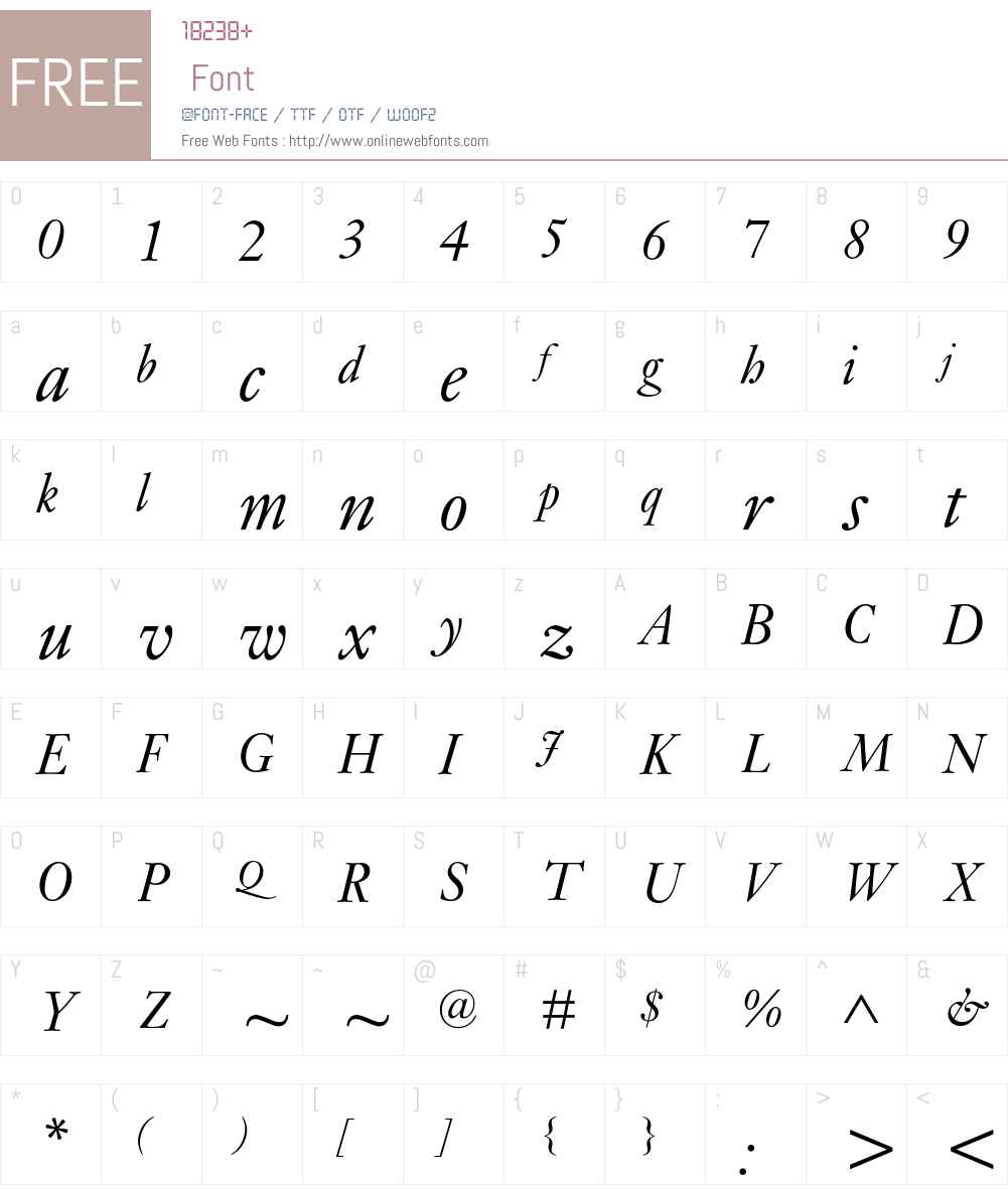Janson MT Std Font Screenshots