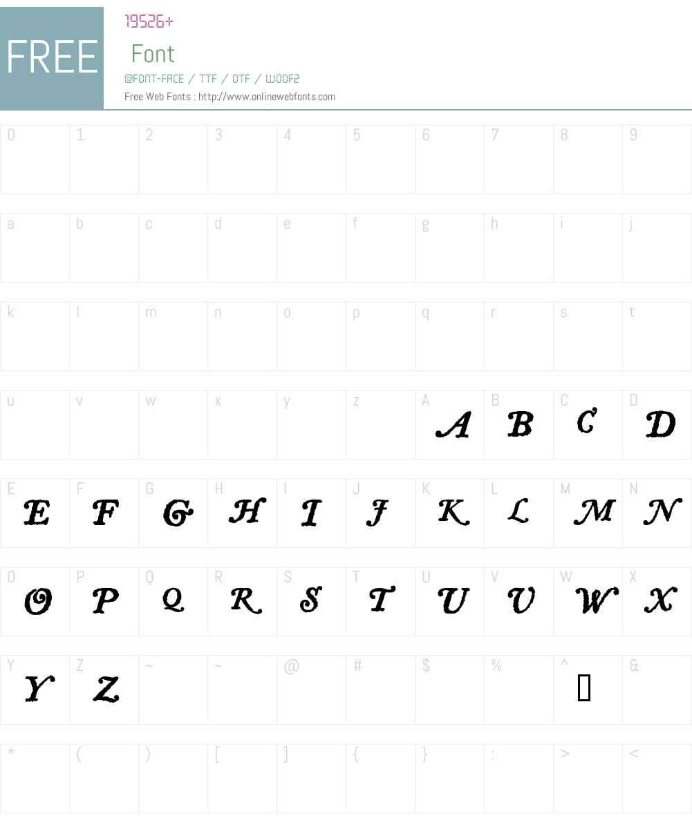 LetterpressTextSwCaps Font Screenshots