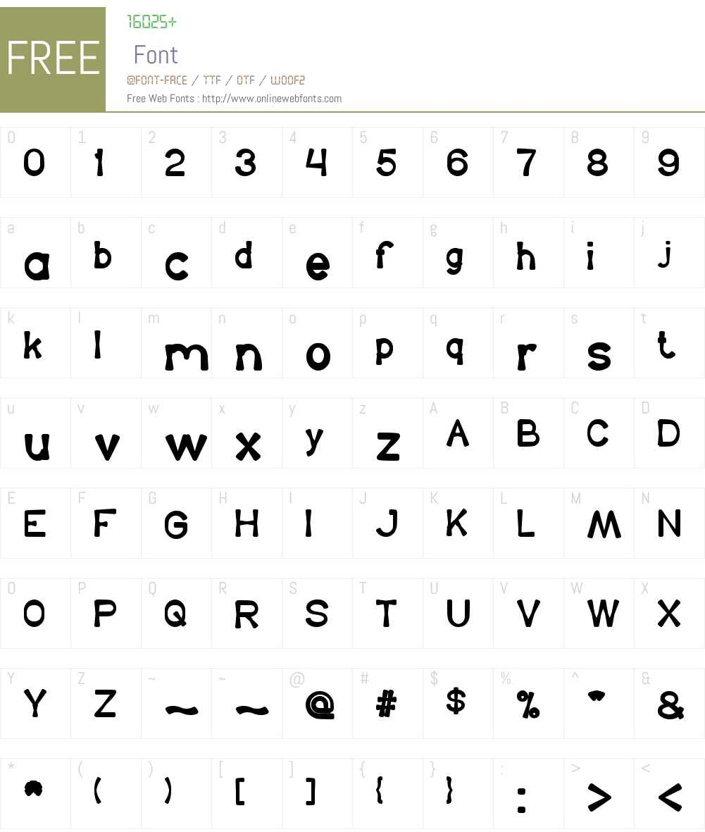 King Of The World Font Screenshots