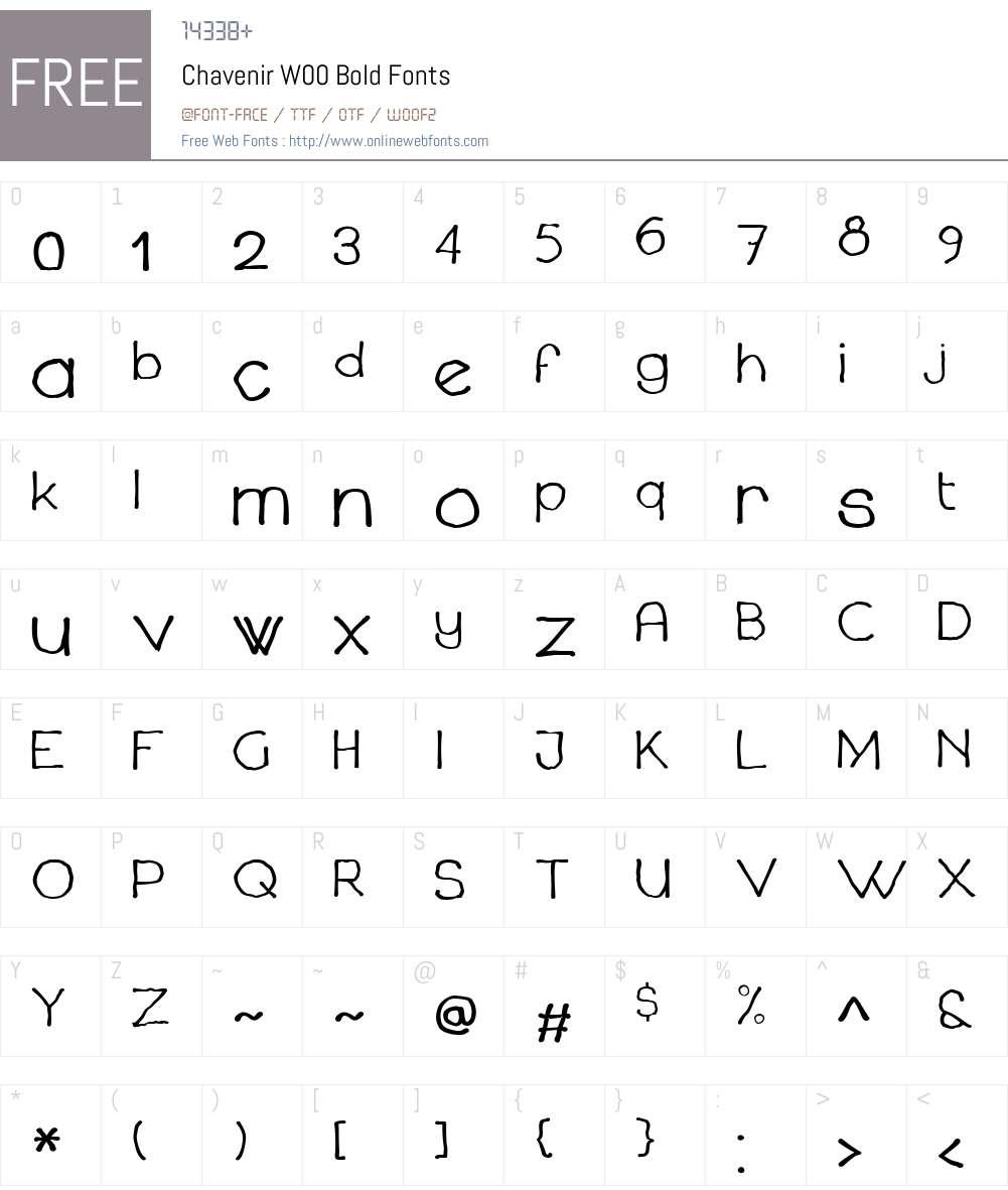 ChavenirW00-Bold Font Screenshots