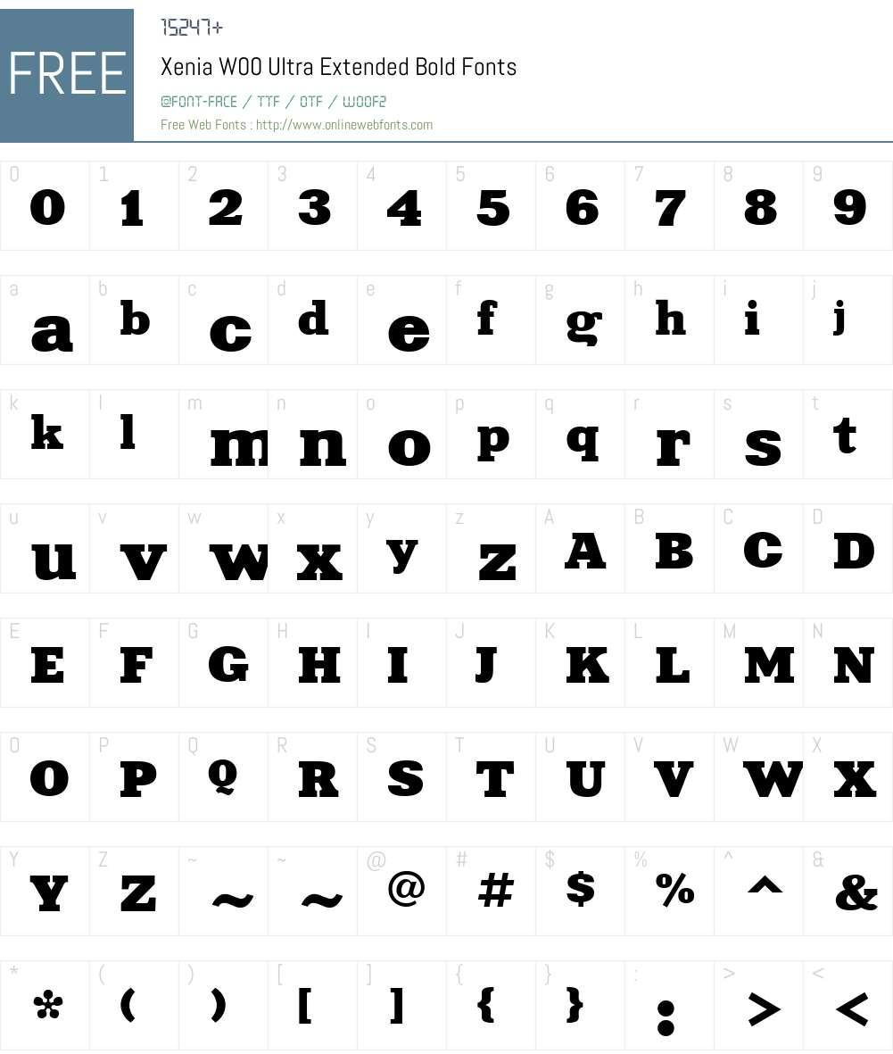 XeniaW00-UltraExtendedBold Font Screenshots