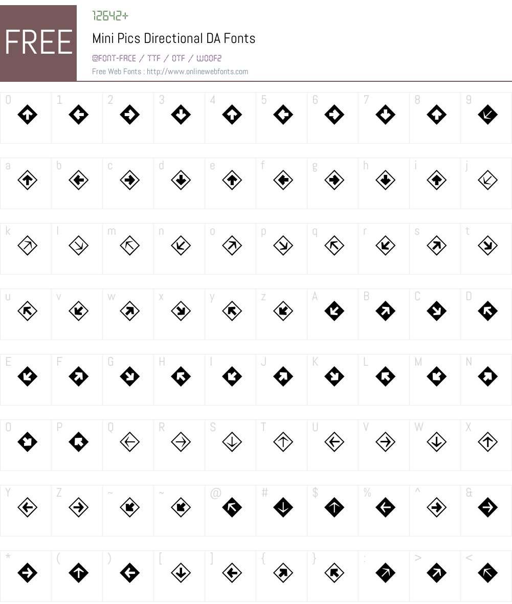 Mini Pics Font Screenshots