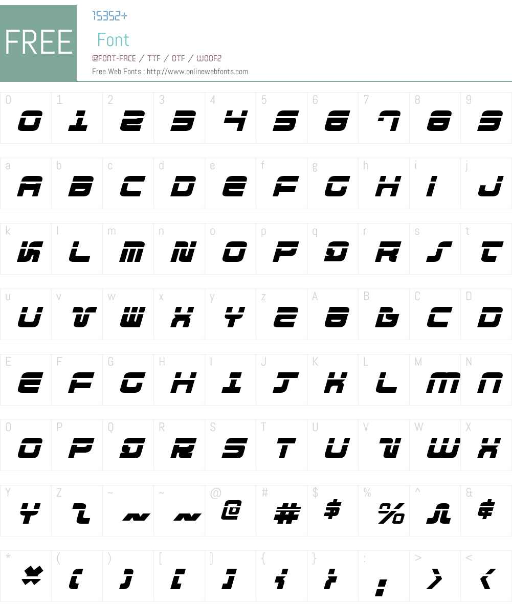 Direktor Laser Italic Font Screenshots