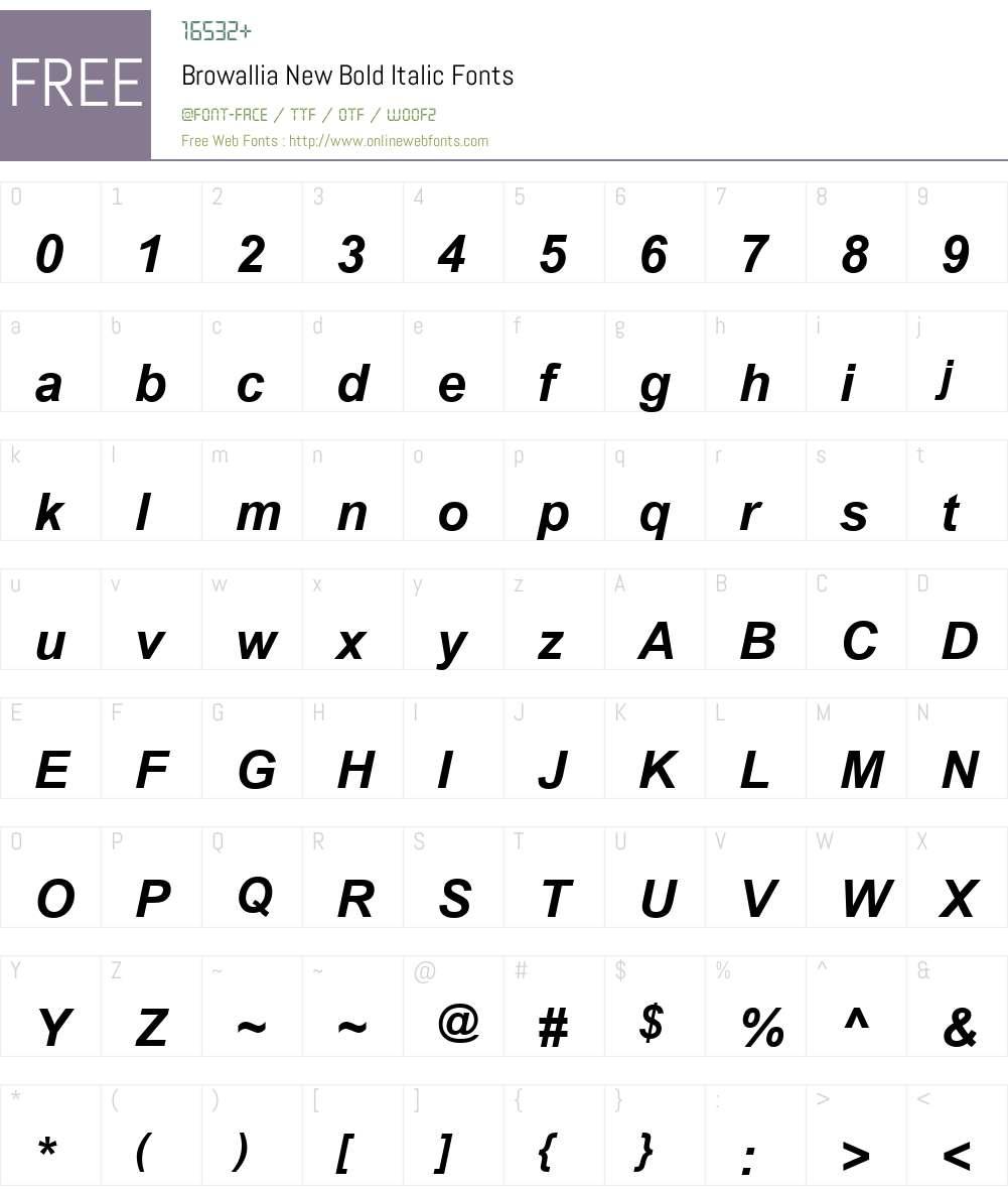 Browallia New Font Screenshots