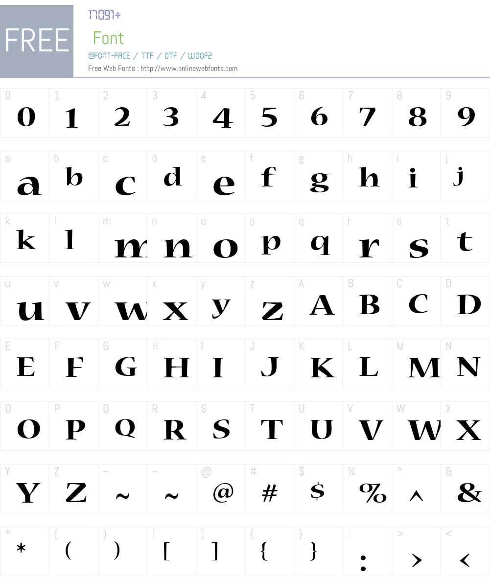 Nueva Font Screenshots