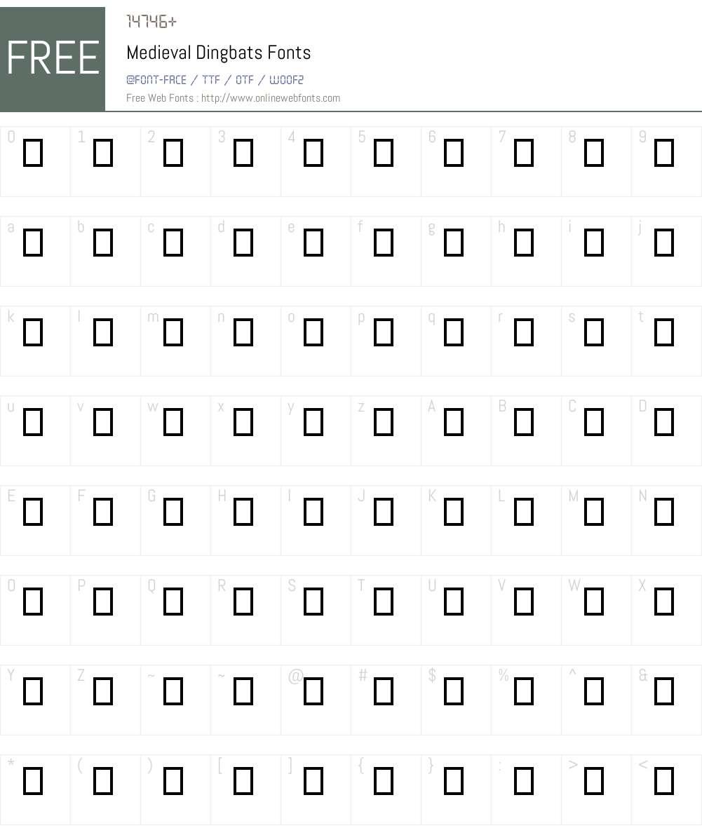 Medieval Dingbats Font Screenshots