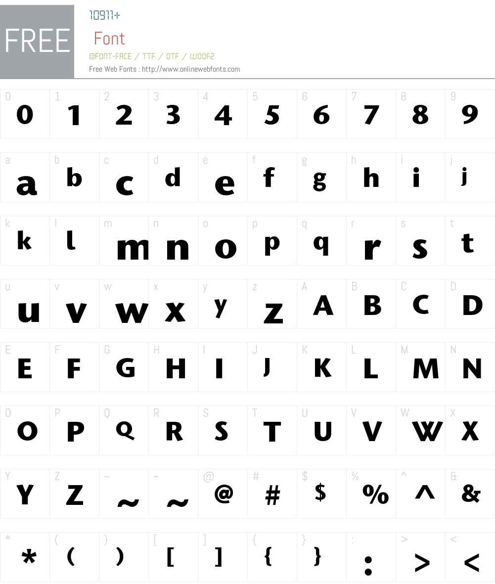 Stone Humanist ITC Std Font Screenshots