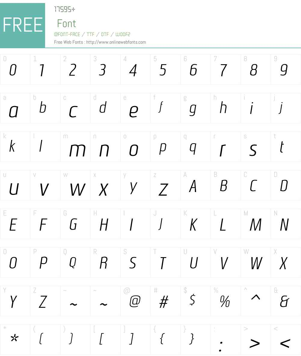 NautikkaW00-NormalItalic Font Screenshots
