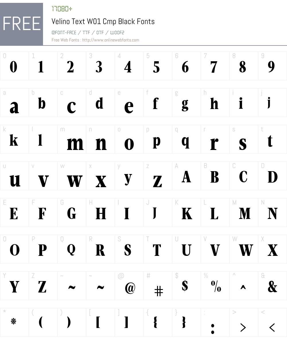 VelinoTextW01-CmpBlack Font Screenshots