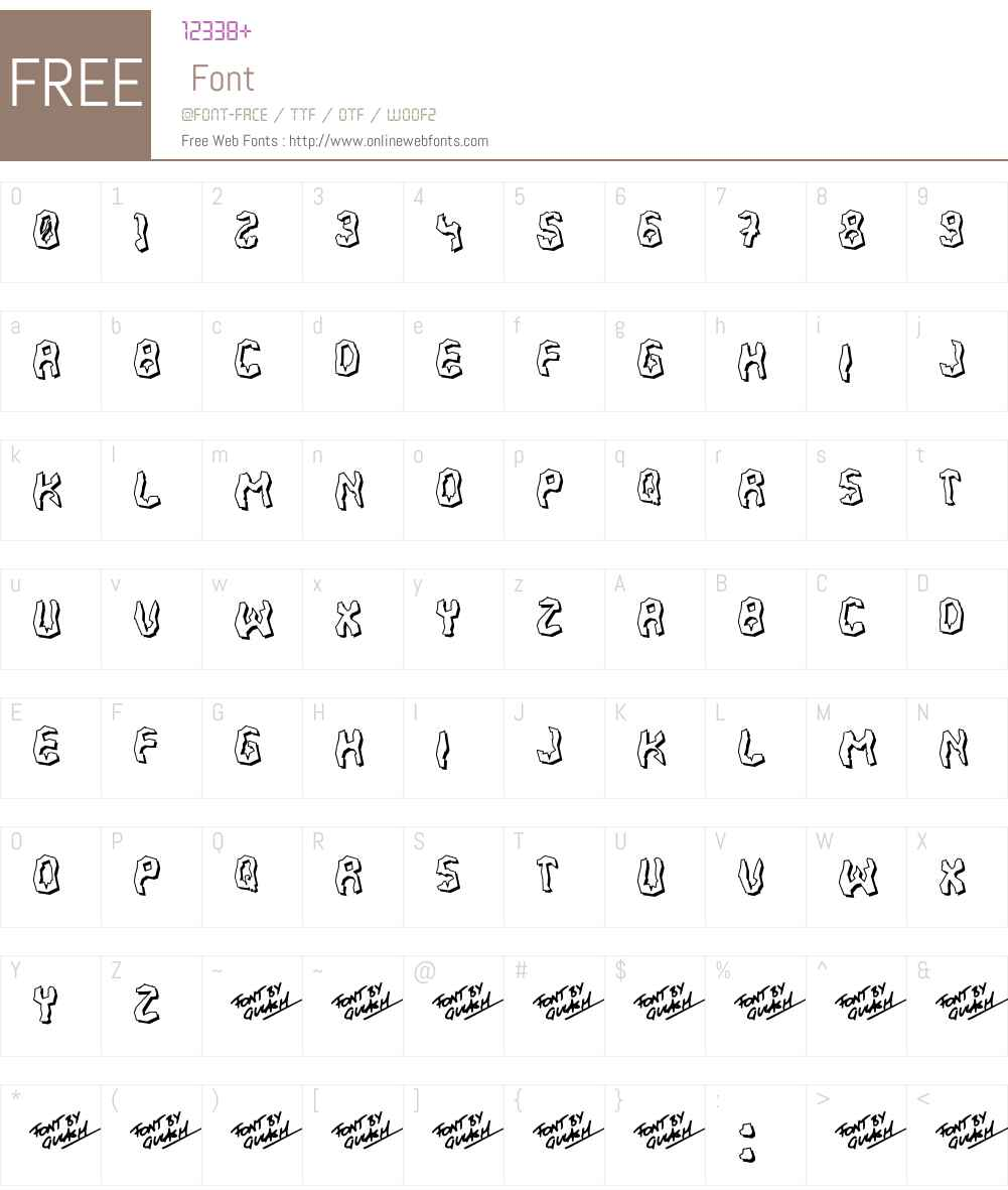 700 Fudge Font Screenshots
