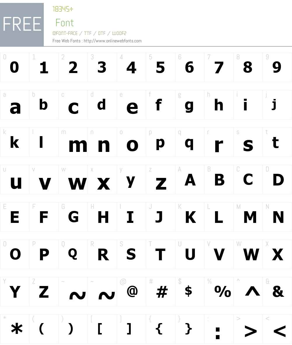 UKIJ Inchike Font Screenshots