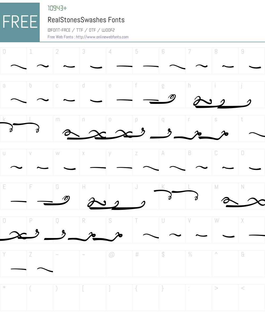 Real Stones Swashes Font Screenshots