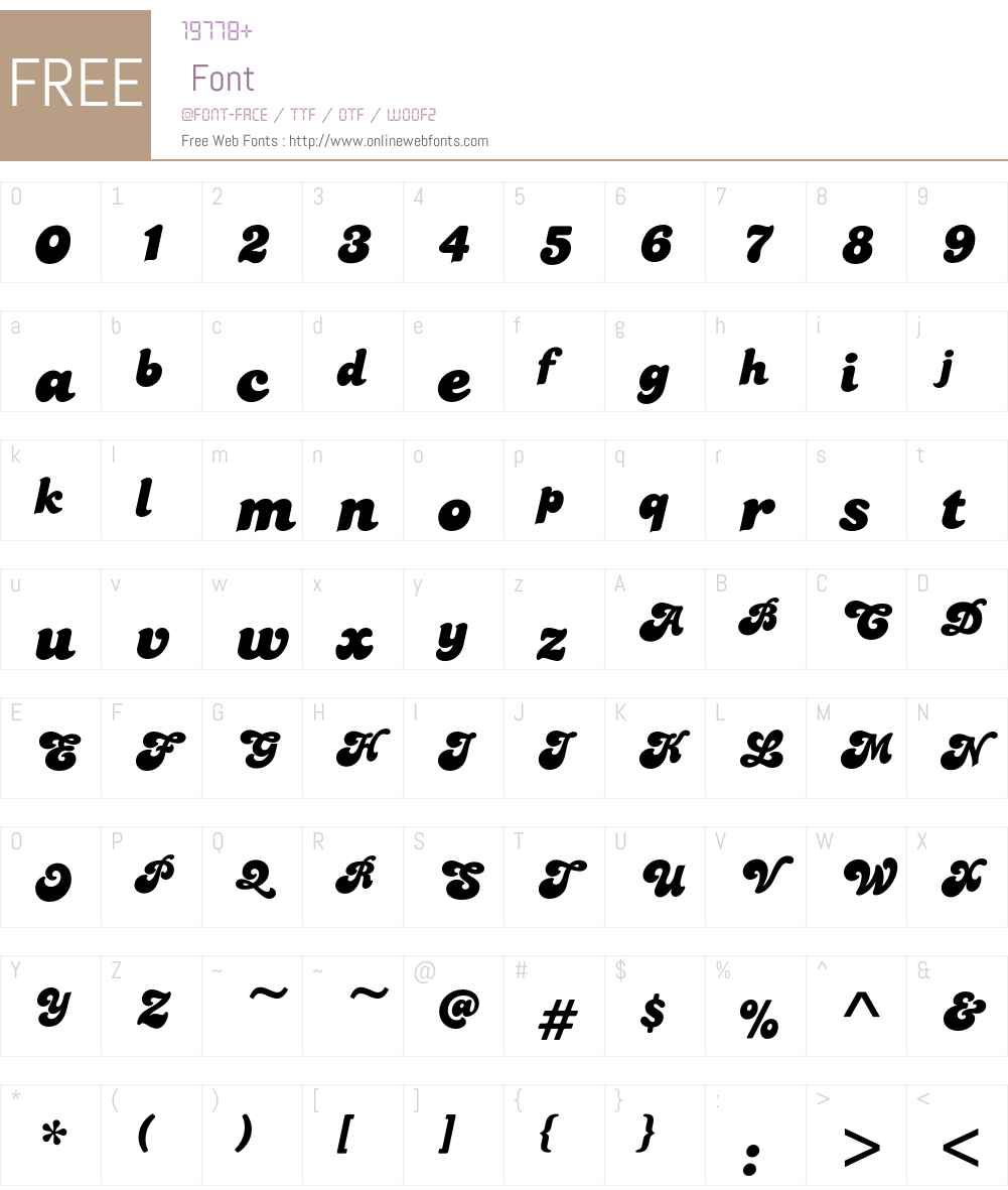 CandiceEF Font Screenshots