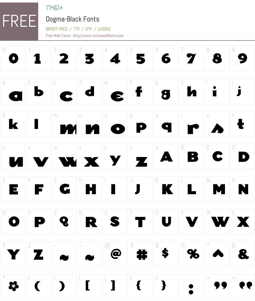 Dogma-Black Font Screenshots
