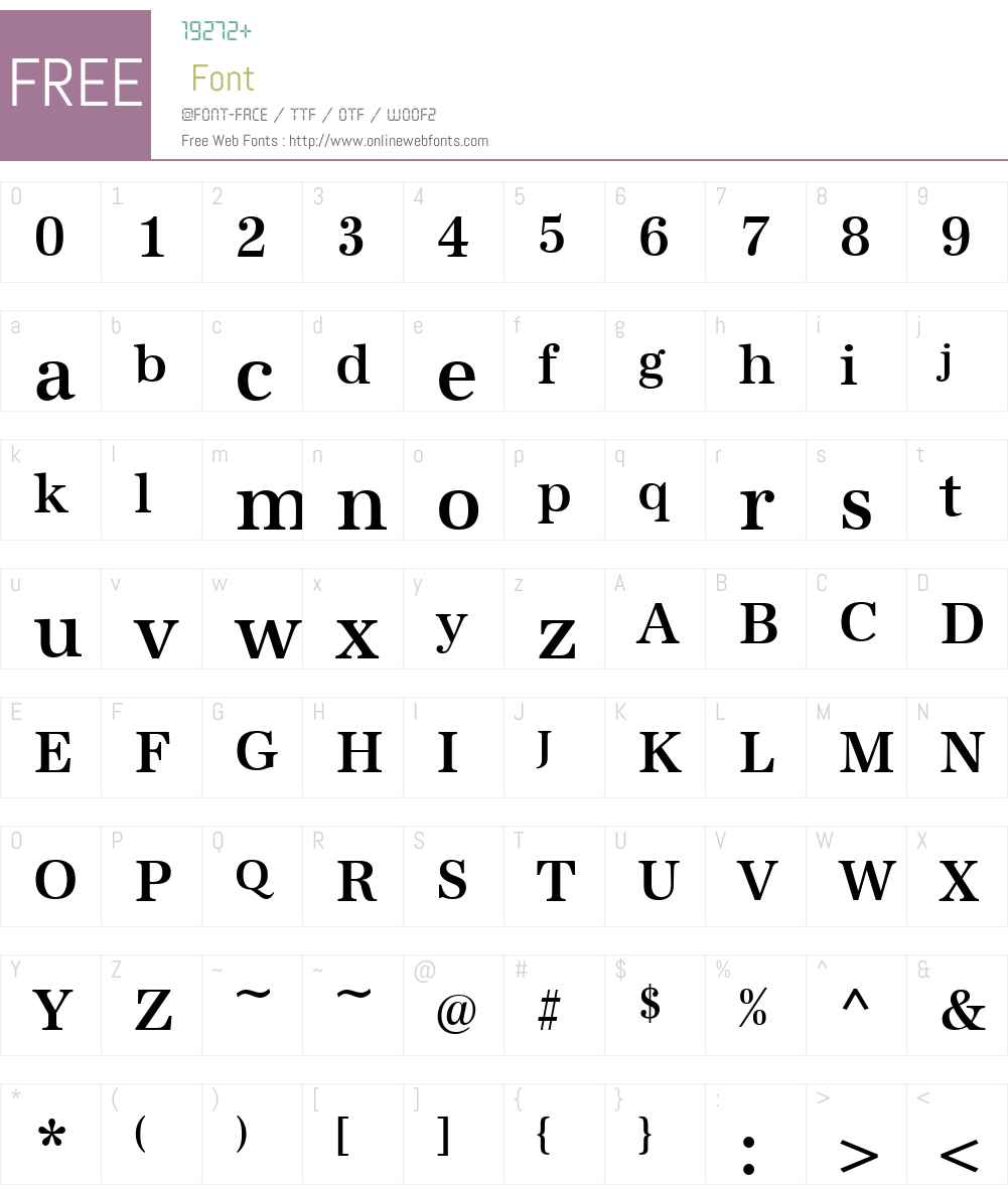 URWAntiquaTMedNar Font Screenshots