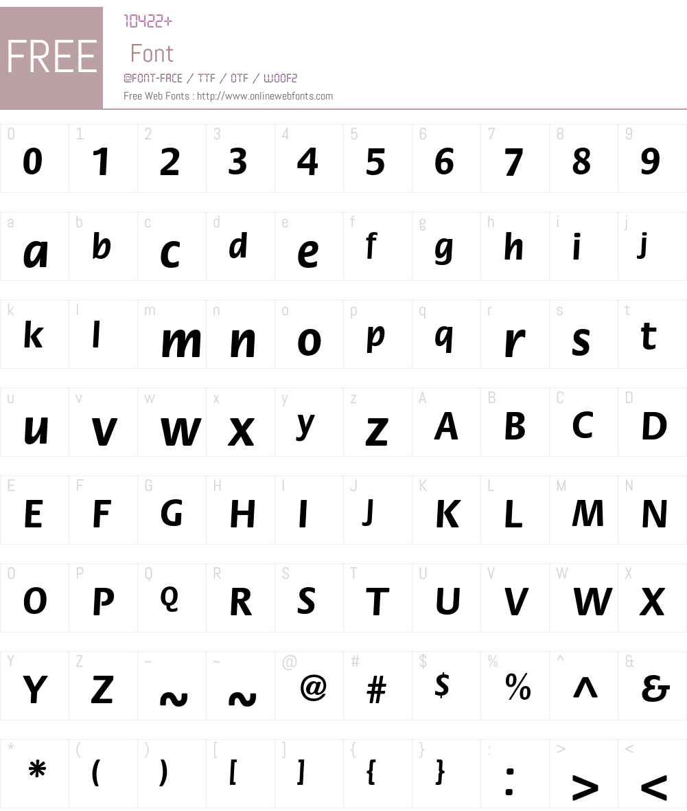 FloraC Font Screenshots