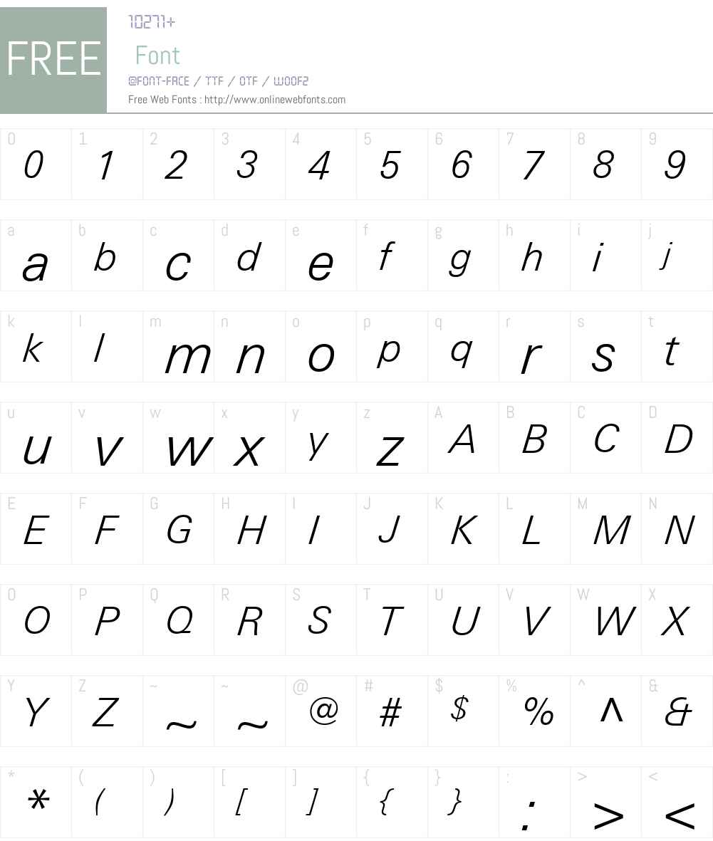 LinotypeUniversW01-LightIt Font Screenshots