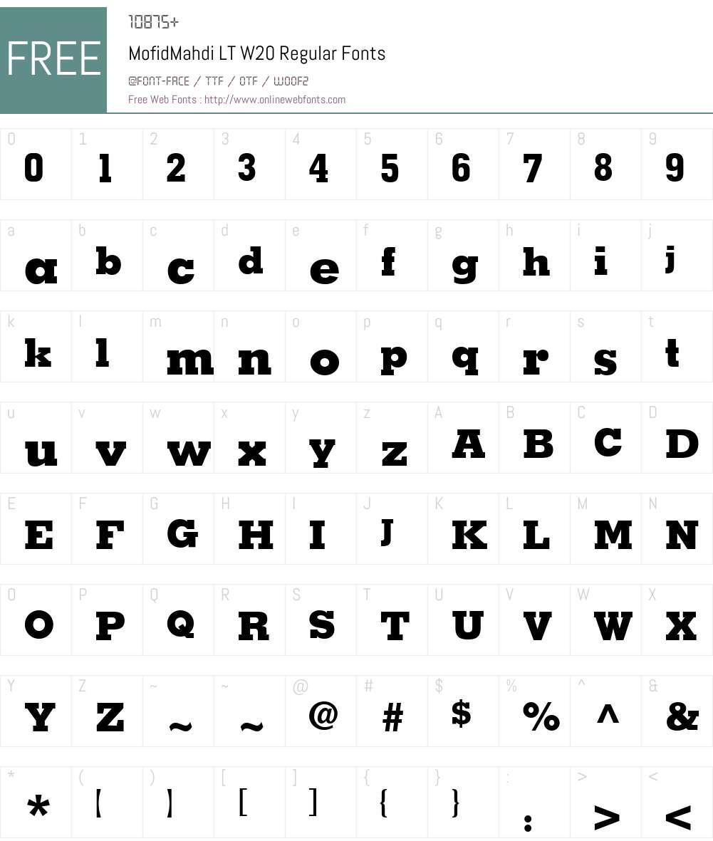 MofidMahdiLTW20-Regular Font Screenshots