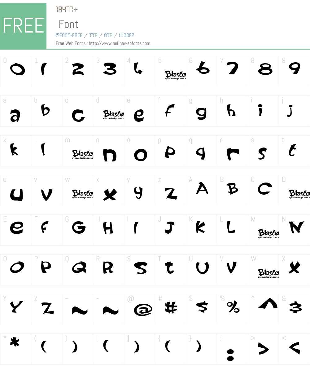 Blaster Font Screenshots