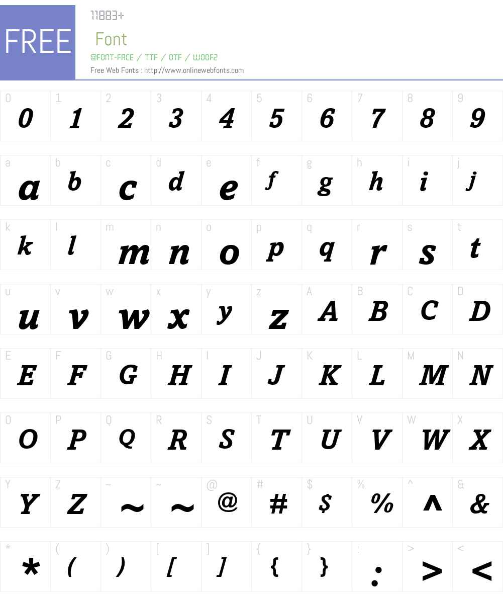 Amasis eText Font Screenshots