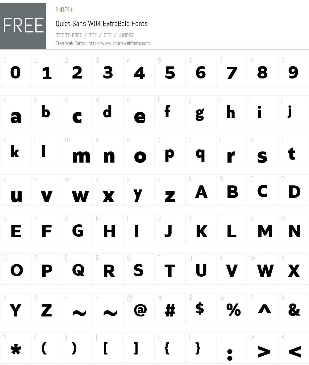 Quiet Sans Font Screenshots
