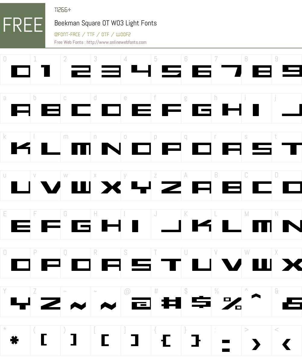 FF Beekman Square Font Screenshots