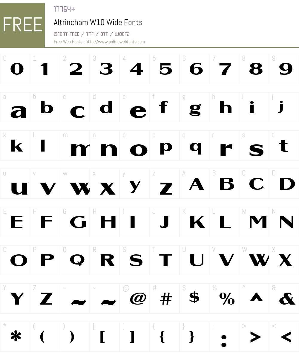 Altrincham Font Screenshots