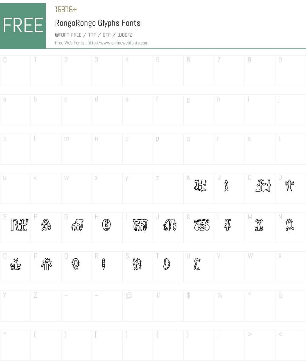 RongoRongo Glyphs Font Screenshots