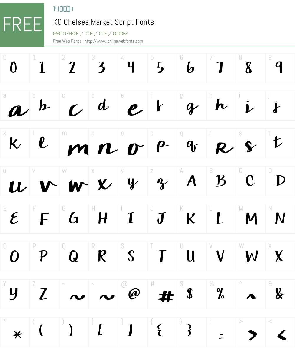 KG Chelsea Market Script Font Screenshots