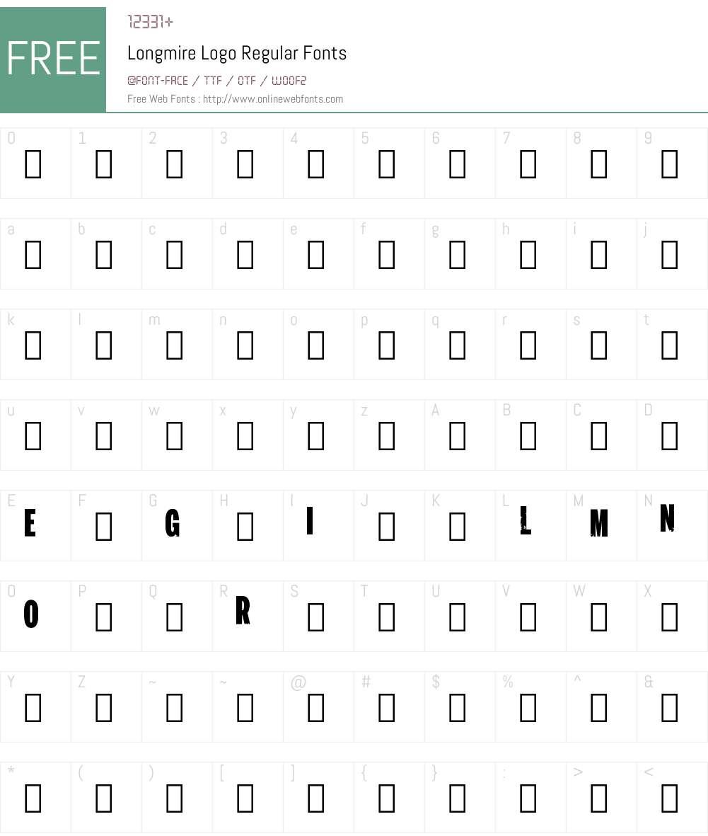 Longmire Logo Font Screenshots