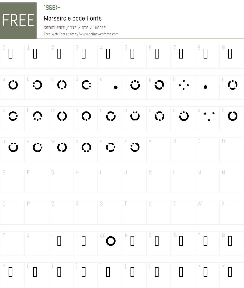 Morseircle code Font Screenshots