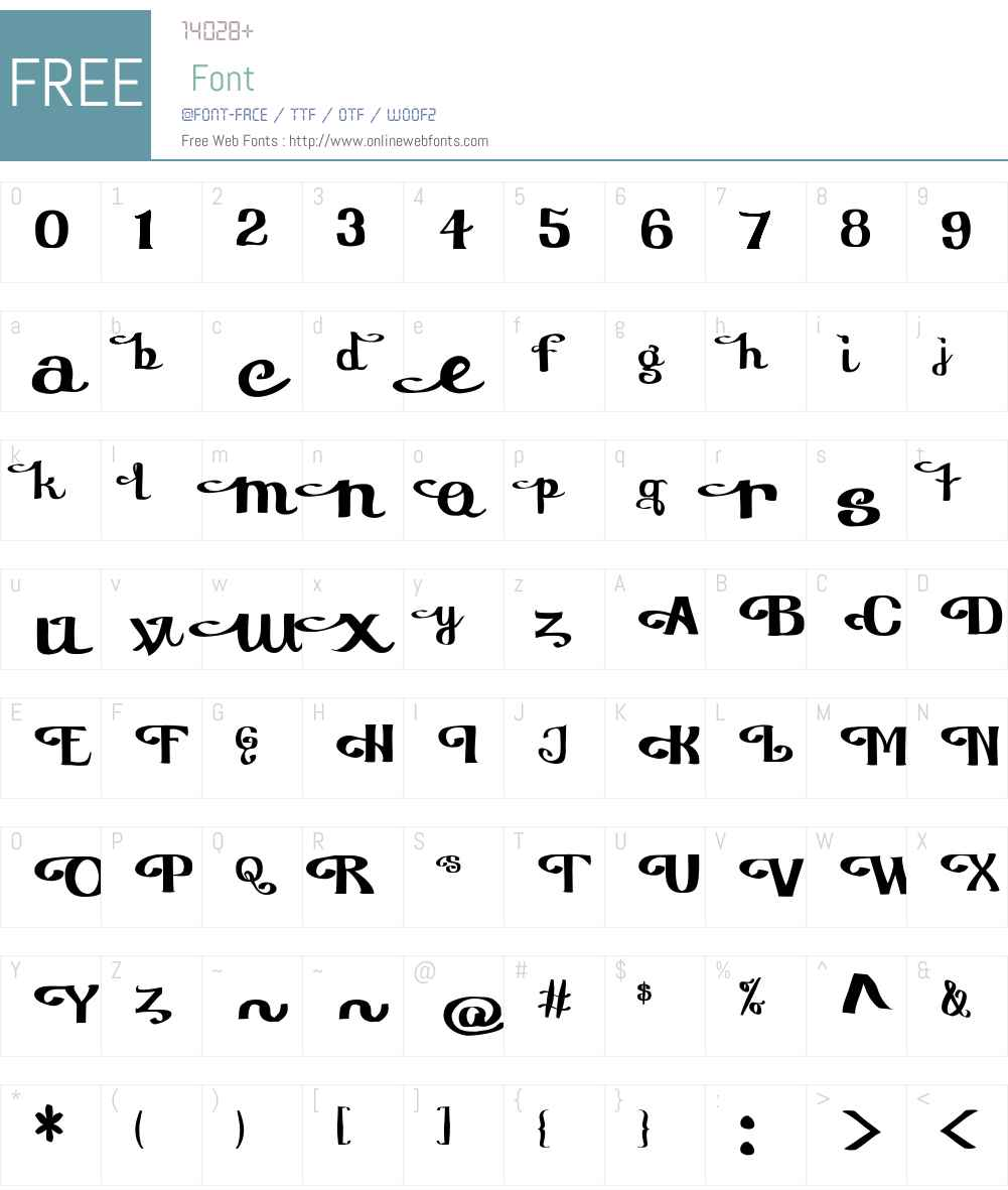 Furngilly Font Screenshots