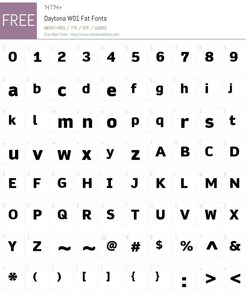 DaytonaW01-Fat Font Screenshots