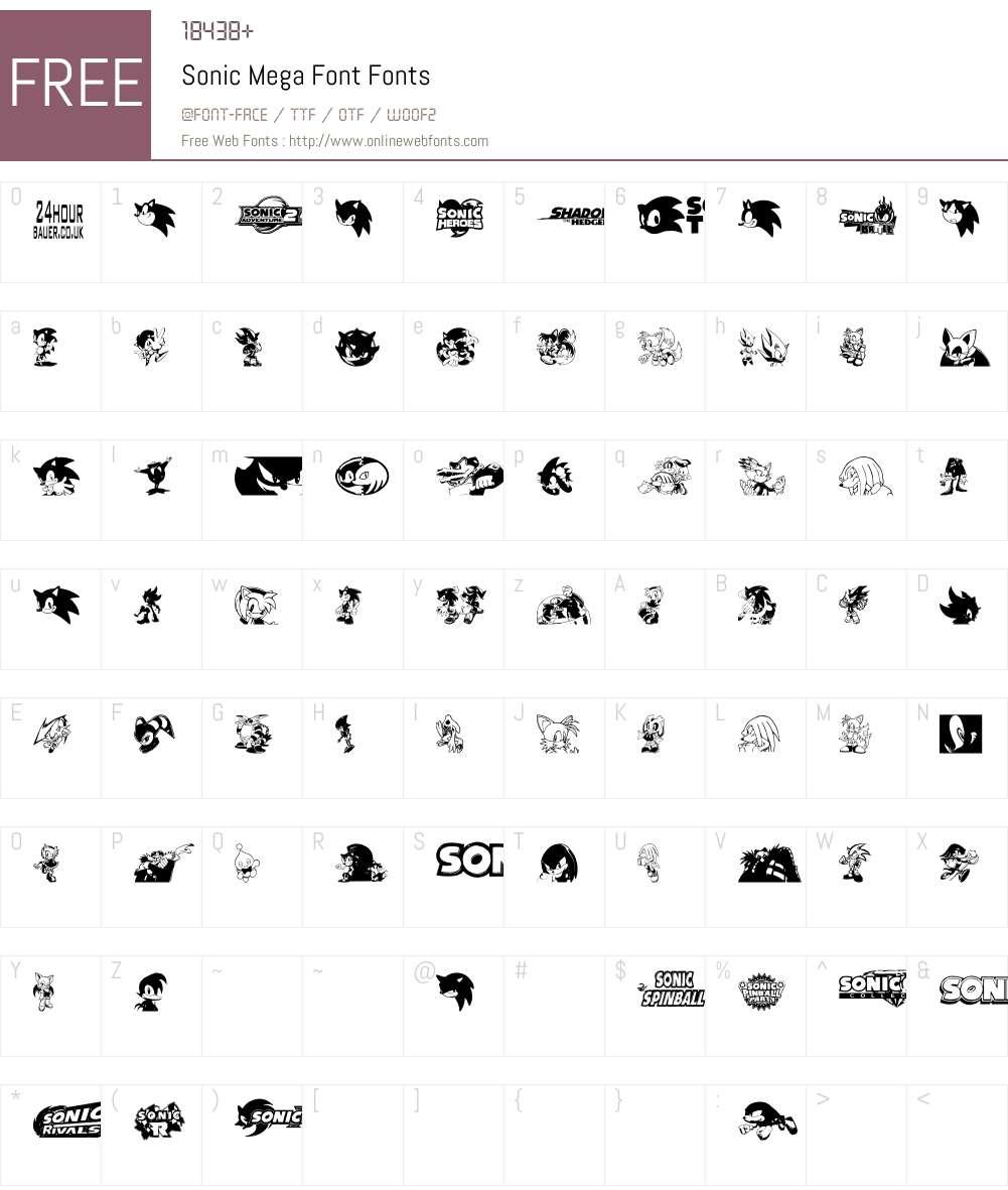 Sonic Mega Font Font Screenshots