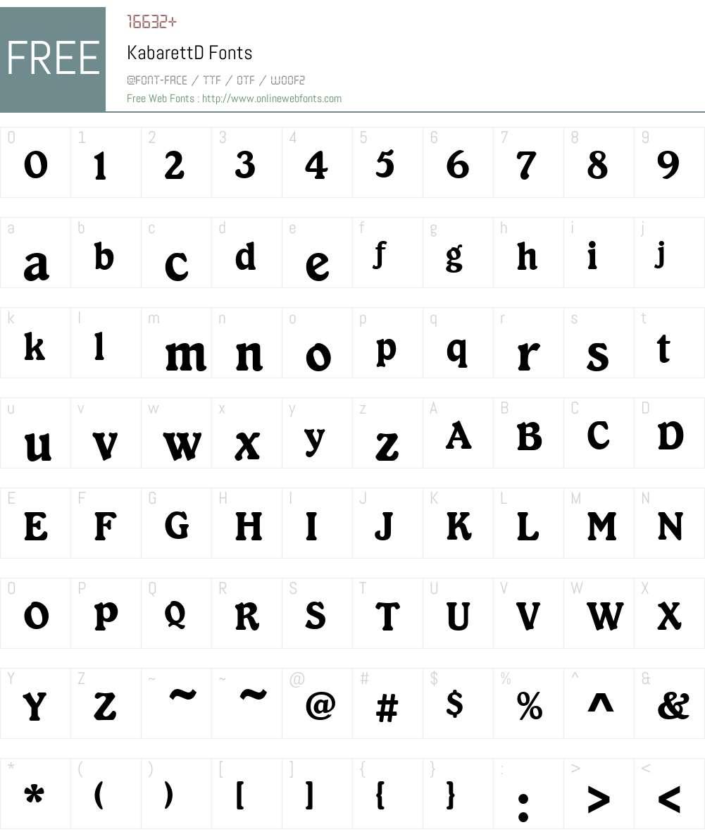 KabarettD Font Screenshots