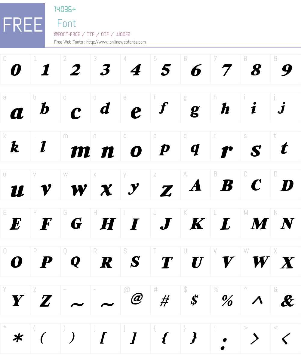 CCExtraExtraW00-HeavyItalic Font Screenshots