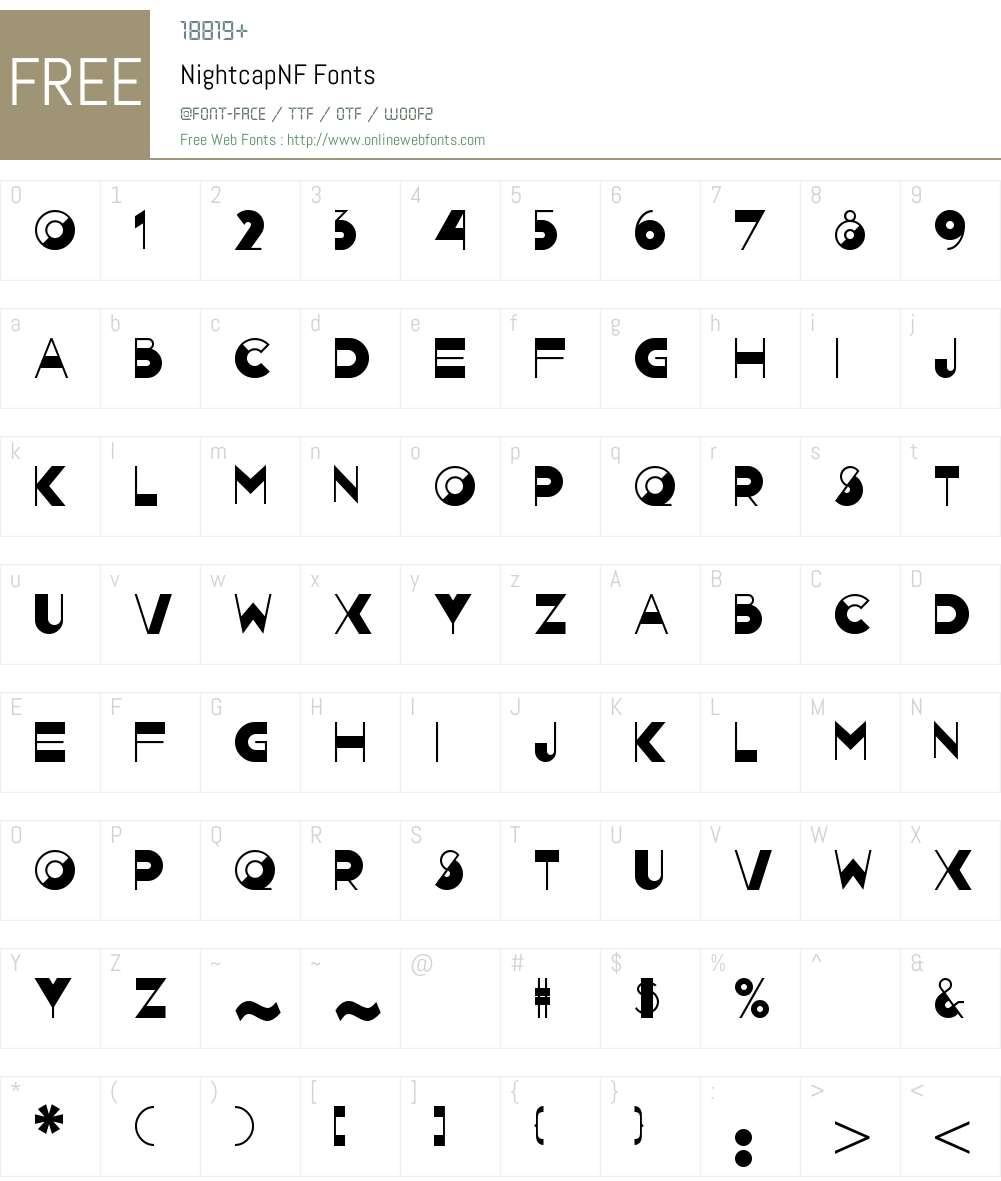 Nightcap NF Font Screenshots
