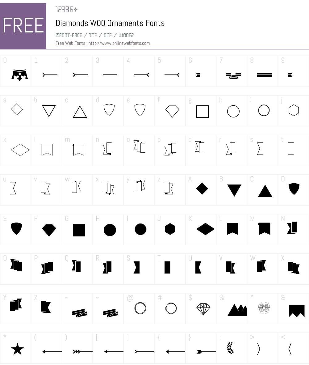Diamonds Font Screenshots