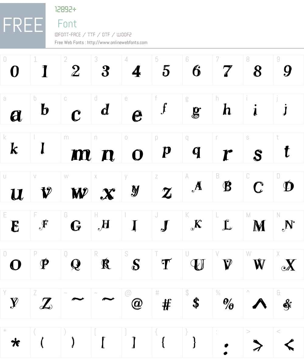 Levona Font Screenshots