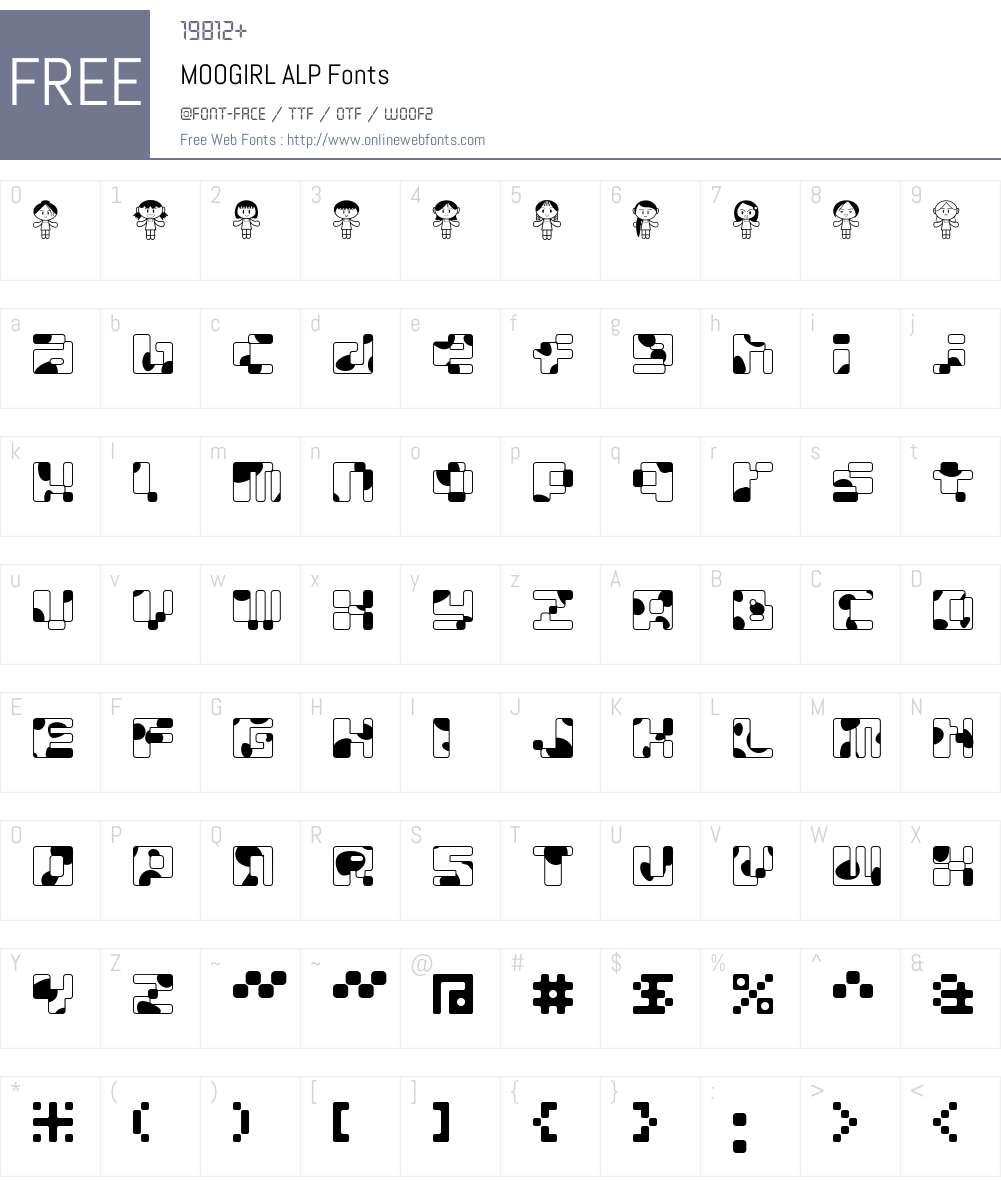 MOOGIRL Font Screenshots