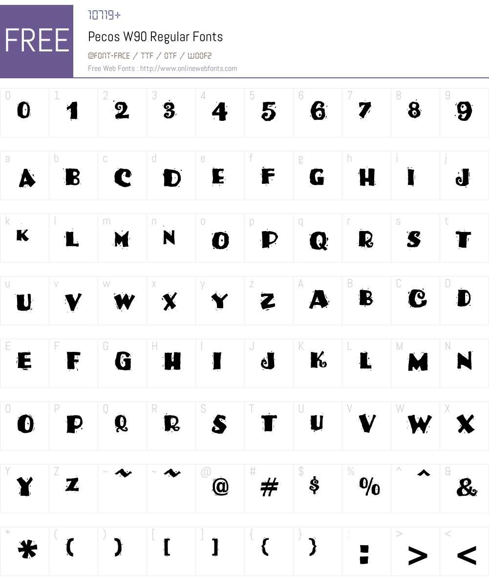 PecosW90-Regular Font Screenshots