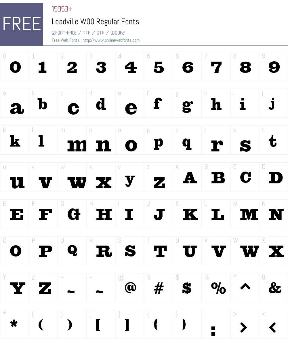 LeadvilleW00-Regular Font Screenshots