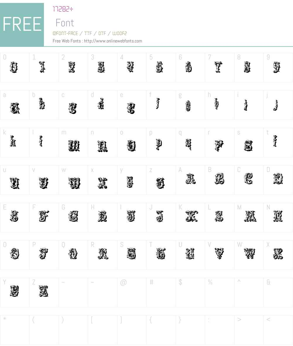 Leafyshade Font Screenshots