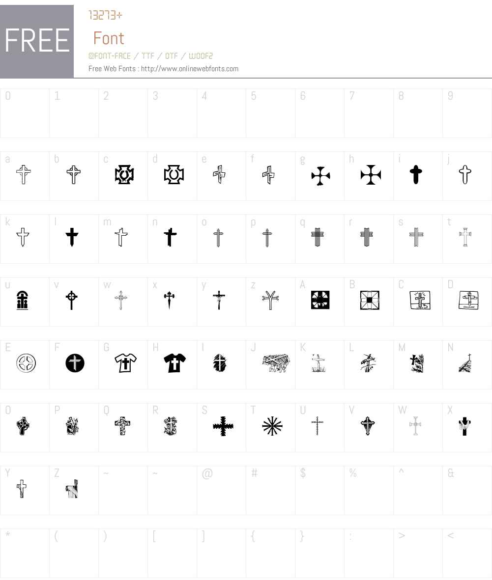 Christian Crosses V Font Screenshots