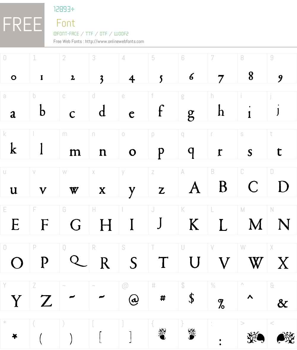 1592 GLC Garamond Font Screenshots