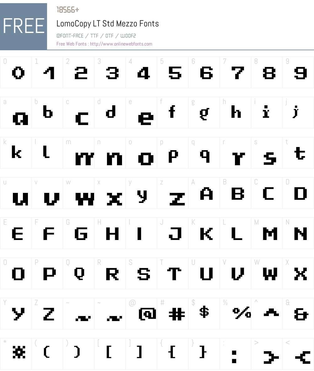 LomoCopy LT Std Mezzo Font Screenshots