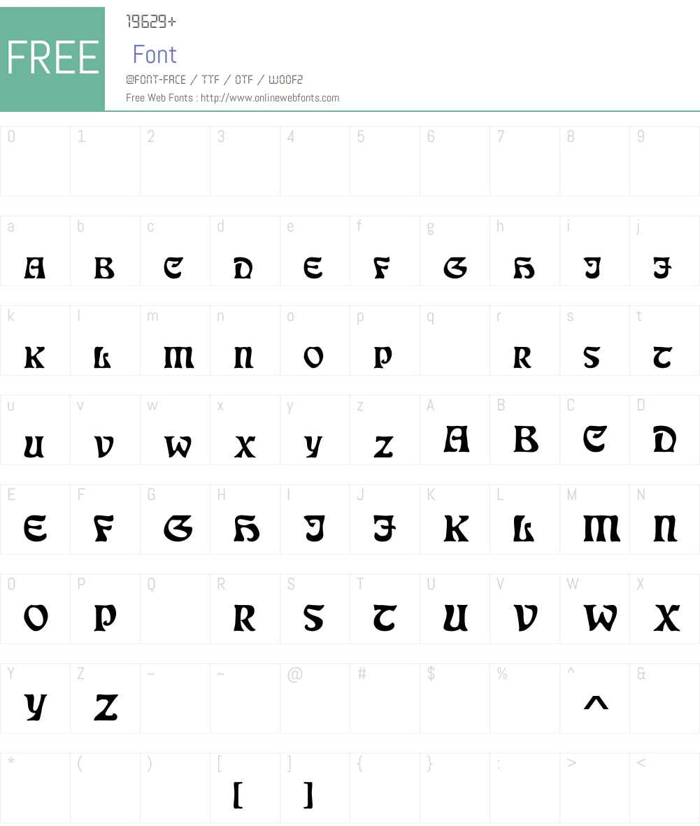 DS JugendSC Demo Font Screenshots
